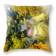 Posies Picturesque Throw Pillow