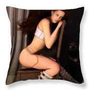 Posing For Him Throw Pillow