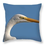 Posing Heron Throw Pillow