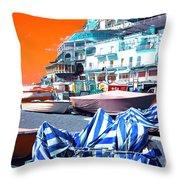 Positano Beach Pop Art Throw Pillow