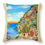 Positano Dreamy Sunset Throw Pillow