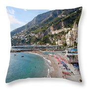 Positano Paradise Throw Pillow
