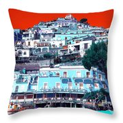 Positano Pop Art Throw Pillow