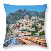 Positano Resort Throw Pillow