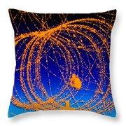 Positron Track Throw Pillow