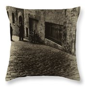 Post Alley - West Wall Throw Pillow