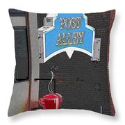 Post Alley 3 Throw Pillow