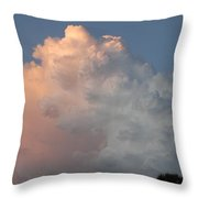 Post Card Clouds Throw Pillow