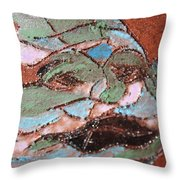 Post Carnival Blues Tile Throw Pillow