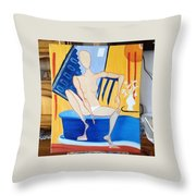 Post-coital Throw Pillow