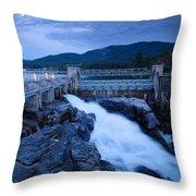 Post Falls Dam Throw Pillow