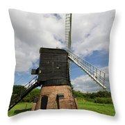 Post Mill Windmill Throw Pillow