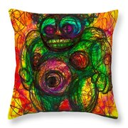 Post Modern Venus Of Willendorf  She's Mad As Hell Guys  Rightfully So Throw Pillow