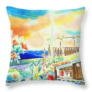 Post Office In The Island Throw Pillow