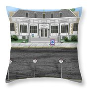 Post Office In Thermopolis Throw Pillow