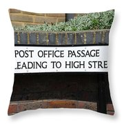 Post Office Passage In Hastings Throw Pillow