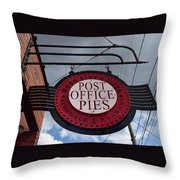 Post Office Pies Throw Pillow