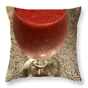 Post-walk Chilled-berries Recovery Drink Throw Pillow by Murtaza Humayun Saeed