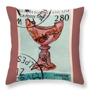 Postage 4 Throw Pillow