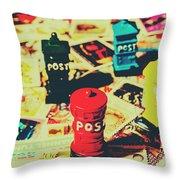 Postage Pop Art Throw Pillow
