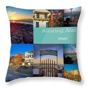 Postcard From Alassio Throw Pillow