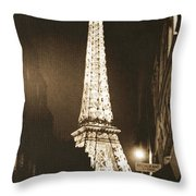 Postcard From Paris- Art By Linda Woods Throw Pillow