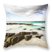 Postcard Perfect Ocean Background Throw Pillow