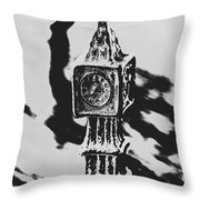 Postcards From Big Ben  Throw Pillow