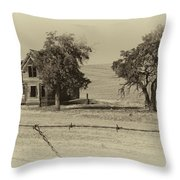 Barbed Wire - No Trespassing Throw Pillow