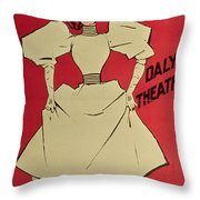 Poster Advertising A Gaiety Girl At The Dalys Theatre In Great Britain Throw Pillow