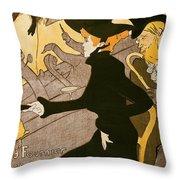 Poster Advertising Le Divan Japonais Throw Pillow by Henri de Toulouse Lautrec