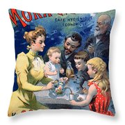 Poster Advertising Moka Maltine Coffee Throw Pillow