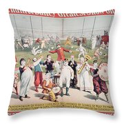Poster Advertising The Barnum And Bailey Greatest Show On Earth Throw Pillow