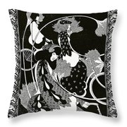 Poster Advertising Victor Bicycles Throw Pillow