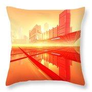 Poster-city 1 Throw Pillow