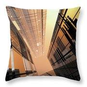 Poster-city 2 Throw Pillow