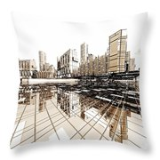 Poster-city 4 Throw Pillow