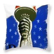 Poster: Democracy, C1940 Throw Pillow