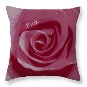 Poster Rose Throw Pillow