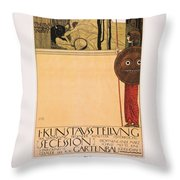 Poster Vienna Secession  Throw Pillow