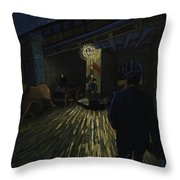 Postman Walks Over The Bridge Throw Pillow