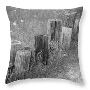 Posts In A Row Throw Pillow