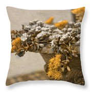 Pot Flowers  Throw Pillow