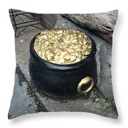 Pot Of Gold At The Rainbow Throw Pillow