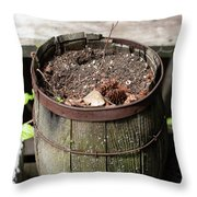 Pot Waiting For New Plant Throw Pillow