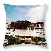 Potala Palace Dalai Lama Home Place. Tibet Kailash Yantra.lv 2016  Throw Pillow