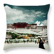Potala Palace. Lhasa, Tibet. Yantra.lv Throw Pillow