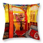 Potala Tea Room Throw Pillow