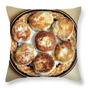 Potato Cutlets With Chicken Filling Throw Pillow