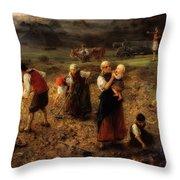 Potato Harvest Throw Pillow